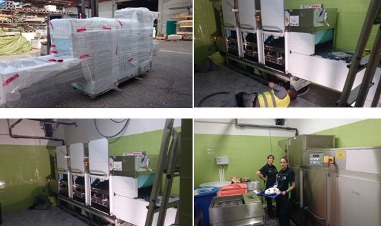 Supply & Install in Vienna – Conveyorband Washer 3400 plates per hour